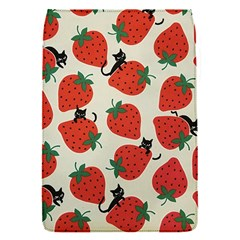 Fruit Strawberry Red Black Cat Flap Covers (s)  by Alisyart