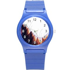 Abstract Lines Round Plastic Sport Watch (s)