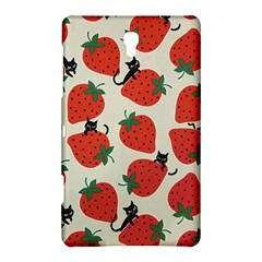 Fruit Strawberry Red Black Cat Samsung Galaxy Tab S (8 4 ) Hardshell Case  by Alisyart