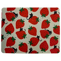 Fruit Strawberry Red Black Cat Jigsaw Puzzle Photo Stand (rectangular)
