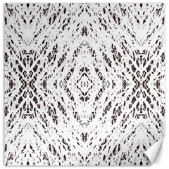Pattern Monochrome Terrazzo Canvas 20  X 20   by Simbadda