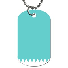 Grey Wave Water Waves Blue White Dog Tag (two Sides) by Alisyart