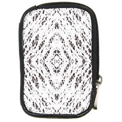Pattern Monochrome Terrazzo Compact Camera Cases by Simbadda