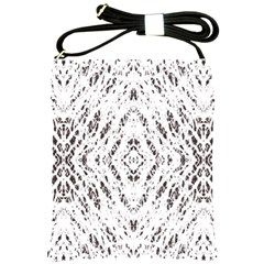 Pattern Monochrome Terrazzo Shoulder Sling Bags by Simbadda