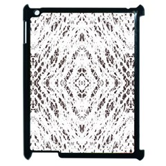 Pattern Monochrome Terrazzo Apple Ipad 2 Case (black) by Simbadda