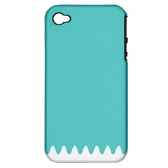 Grey Wave Water Waves Blue White Apple Iphone 4/4s Hardshell Case (pc+silicone)