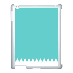Grey Wave Water Waves Blue White Apple Ipad 3/4 Case (white)