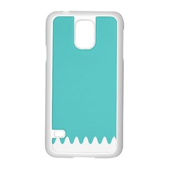 Grey Wave Water Waves Blue White Samsung Galaxy S5 Case (white)