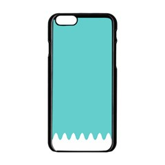 Grey Wave Water Waves Blue White Apple Iphone 6/6s Black Enamel Case by Alisyart