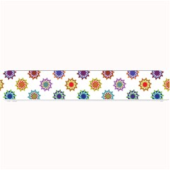 Flowers Color Artwork Vintage Modern Star Lotus Sunflower Floral Rainbow Small Bar Mats