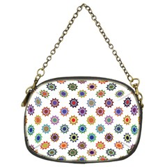 Flowers Color Artwork Vintage Modern Star Lotus Sunflower Floral Rainbow Chain Purses (two Sides)