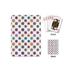 Flowers Color Artwork Vintage Modern Star Lotus Sunflower Floral Rainbow Playing Cards (mini)  by Alisyart