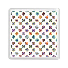 Flowers Color Artwork Vintage Modern Star Lotus Sunflower Floral Rainbow Memory Card Reader (square)