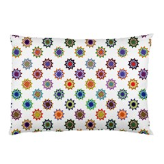 Flowers Color Artwork Vintage Modern Star Lotus Sunflower Floral Rainbow Pillow Case (two Sides)