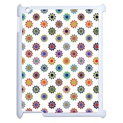 Flowers Color Artwork Vintage Modern Star Lotus Sunflower Floral Rainbow Apple Ipad 2 Case (white) by Alisyart