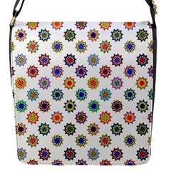 Flowers Color Artwork Vintage Modern Star Lotus Sunflower Floral Rainbow Flap Messenger Bag (s) by Alisyart