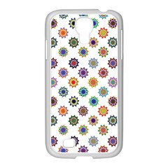 Flowers Color Artwork Vintage Modern Star Lotus Sunflower Floral Rainbow Samsung Galaxy S4 I9500/ I9505 Case (white)