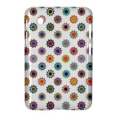 Flowers Color Artwork Vintage Modern Star Lotus Sunflower Floral Rainbow Samsung Galaxy Tab 2 (7 ) P3100 Hardshell Case  by Alisyart