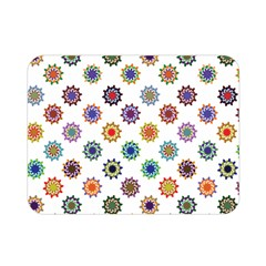 Flowers Color Artwork Vintage Modern Star Lotus Sunflower Floral Rainbow Double Sided Flano Blanket (mini)