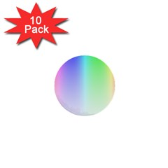 Layer Light Rays Rainbow Pink Purple Green Blue 1  Mini Buttons (10 Pack)  by Alisyart