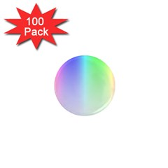 Layer Light Rays Rainbow Pink Purple Green Blue 1  Mini Magnets (100 Pack)