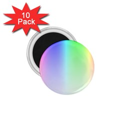 Layer Light Rays Rainbow Pink Purple Green Blue 1 75  Magnets (10 Pack)