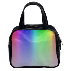 Layer Light Rays Rainbow Pink Purple Green Blue Classic Handbags (2 Sides) by Alisyart