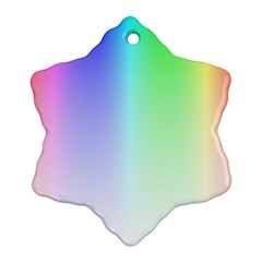 Layer Light Rays Rainbow Pink Purple Green Blue Snowflake Ornament (two Sides) by Alisyart