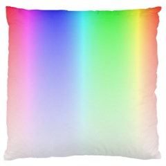 Layer Light Rays Rainbow Pink Purple Green Blue Large Cushion Case (one Side)
