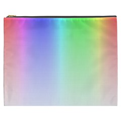 Layer Light Rays Rainbow Pink Purple Green Blue Cosmetic Bag (xxxl)