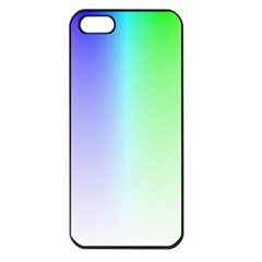 Layer Light Rays Rainbow Pink Purple Green Blue Apple Iphone 5 Seamless Case (black) by Alisyart