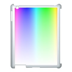 Layer Light Rays Rainbow Pink Purple Green Blue Apple Ipad 3/4 Case (white)