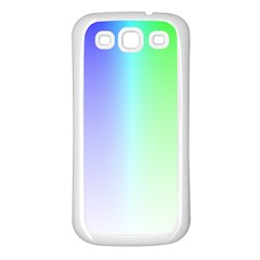 Layer Light Rays Rainbow Pink Purple Green Blue Samsung Galaxy S3 Back Case (white)