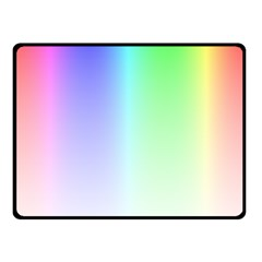 Layer Light Rays Rainbow Pink Purple Green Blue Double Sided Fleece Blanket (small)  by Alisyart