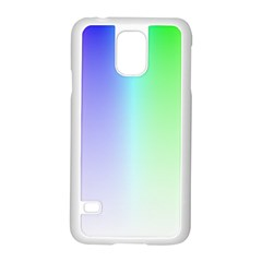 Layer Light Rays Rainbow Pink Purple Green Blue Samsung Galaxy S5 Case (white) by Alisyart
