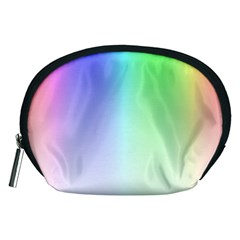 Layer Light Rays Rainbow Pink Purple Green Blue Accessory Pouches (medium)  by Alisyart