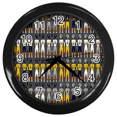Football Uniforms Team Clup Sport Wall Clocks (black) by Alisyart