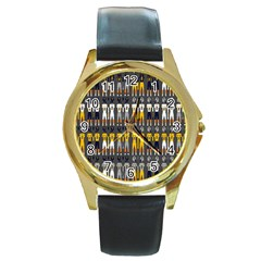 Football Uniforms Team Clup Sport Round Gold Metal Watch by Alisyart