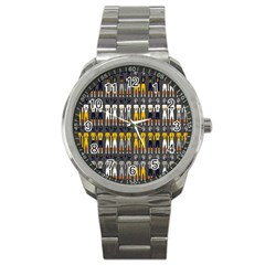Football Uniforms Team Clup Sport Sport Metal Watch by Alisyart