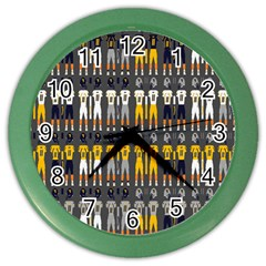 Football Uniforms Team Clup Sport Color Wall Clocks by Alisyart