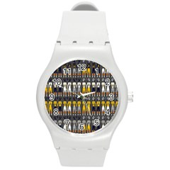 Football Uniforms Team Clup Sport Round Plastic Sport Watch (m) by Alisyart