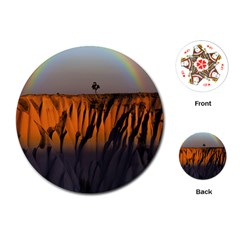 Rainbows Landscape Nature Playing Cards (round)
