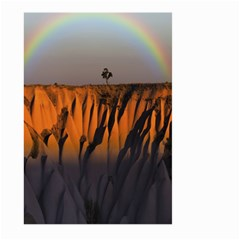 Rainbows Landscape Nature Large Garden Flag (two Sides) by Simbadda