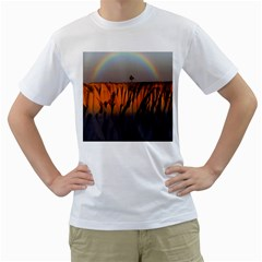 Rainbows Landscape Nature Men s T Shirt (white)