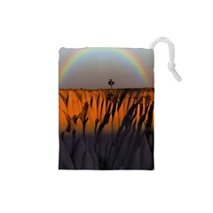 Rainbows Landscape Nature Drawstring Pouches (small)