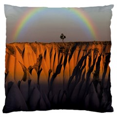 Rainbows Landscape Nature Standard Flano Cushion Case (two Sides) by Simbadda