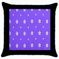 Light Purple Flowers Background Images Throw Pillow Case (black) by Alisyart