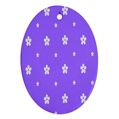 Light Purple Flowers Background Images Oval Ornament (two Sides) by Alisyart