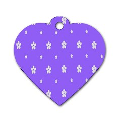 Light Purple Flowers Background Images Dog Tag Heart (two Sides)