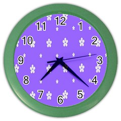 Light Purple Flowers Background Images Color Wall Clocks
